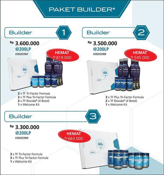 harga jual paket builder 4life transfer factor indonesia jakarta