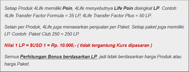 bisnis 4life - life poin - LP -