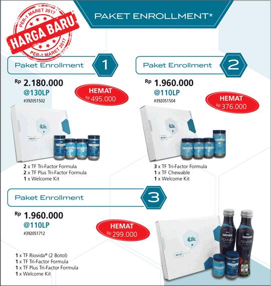 paket enrollment pendaftaran member 4life