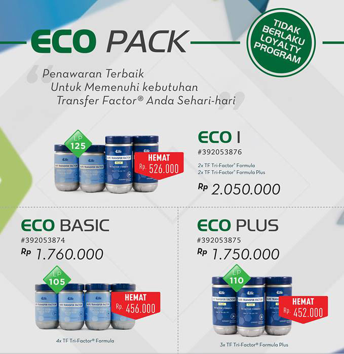 paket eco pack 4life transfer factor indonesia